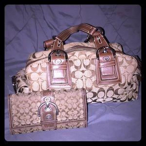 COACH brown satchel bag